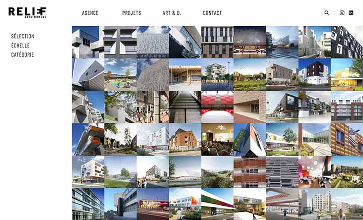 Relief Architecture website