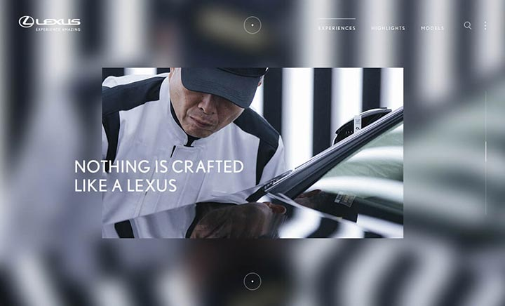 Discover Lexus website