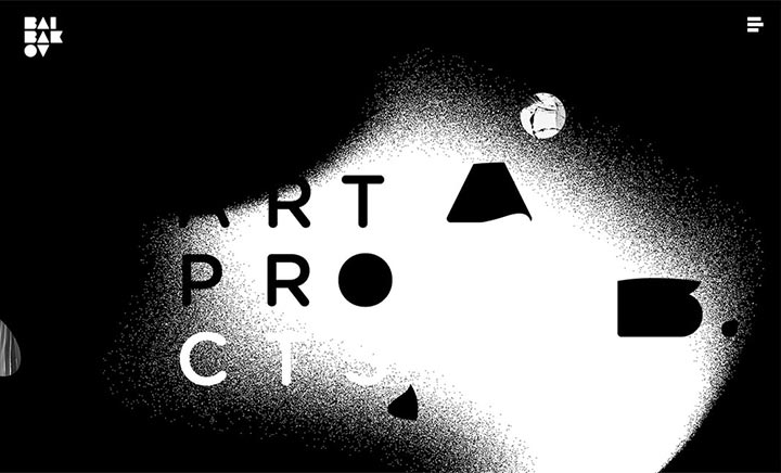 Baibakov Art Projects website