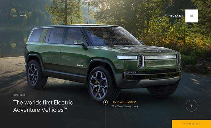 Rivian Automotive website
