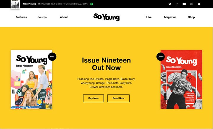 So Young Magazine website