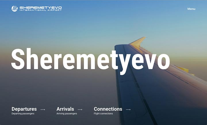 Sheremetyevo International Airport website