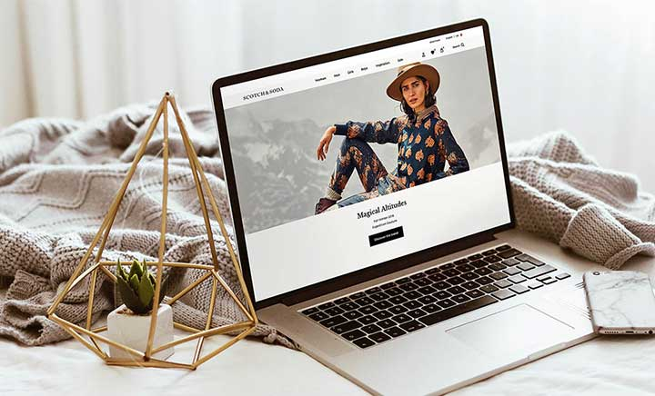 Scotch & Soda website