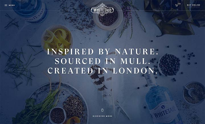 Whitetail Gin website