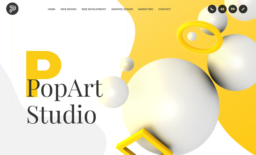 PopArt Studio web design agency website