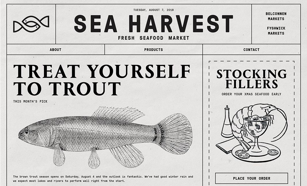 Sea Harvest website