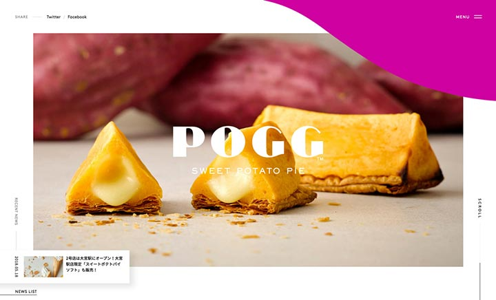 POGG | Sweet Potato Pie website