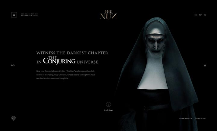 The Nun website