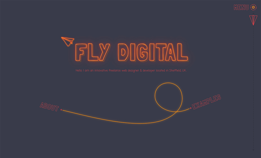 Fly Digital website