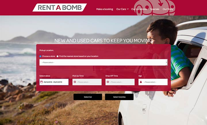 Rent A Bomb website