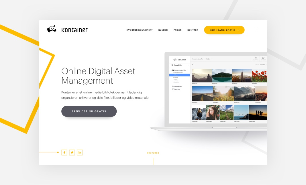 Kontainer website