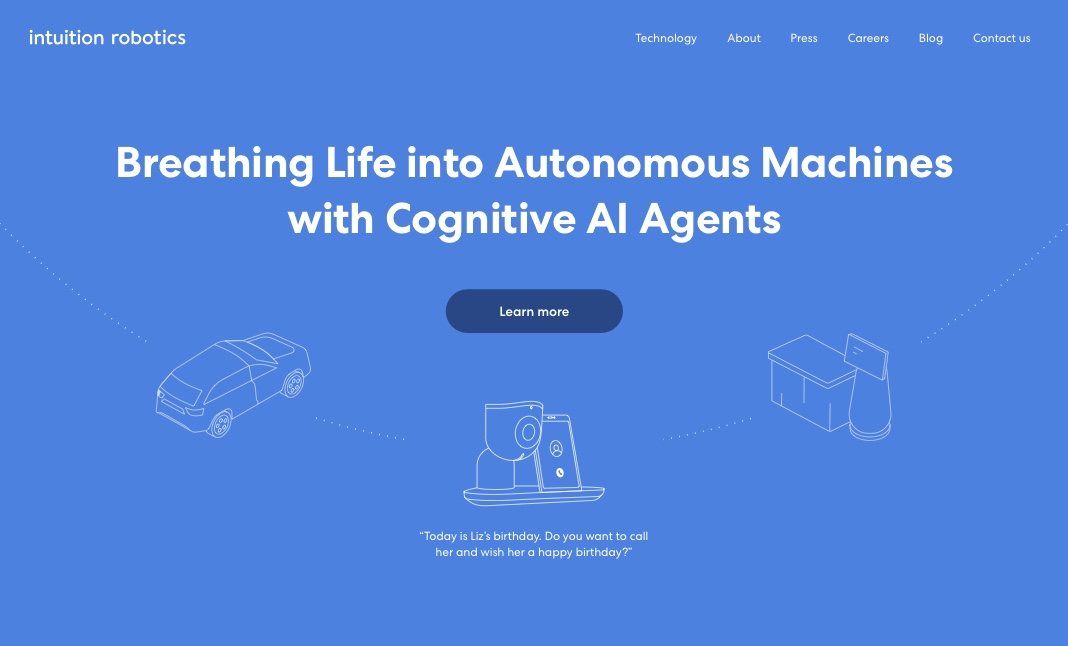 Intuition Robotics website