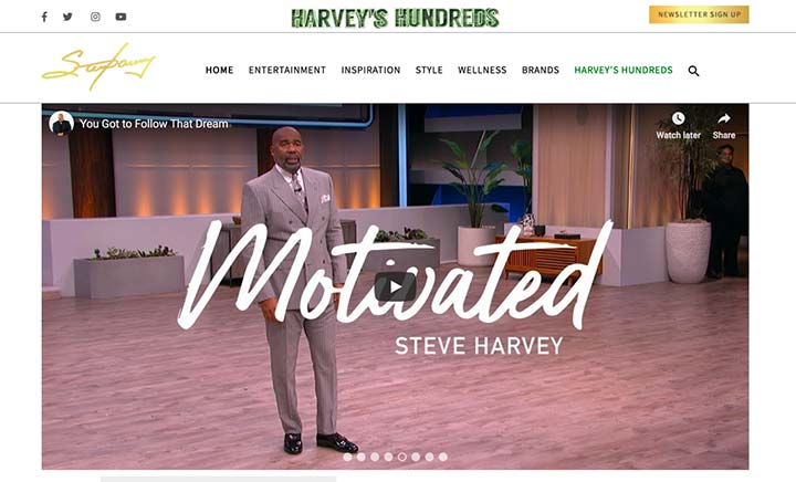 Official Website of Steve Harvey website
