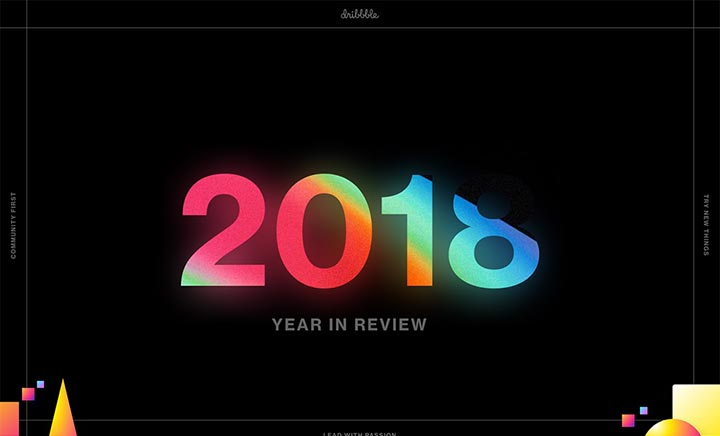 Dribbble's 2018 Year In Review website
