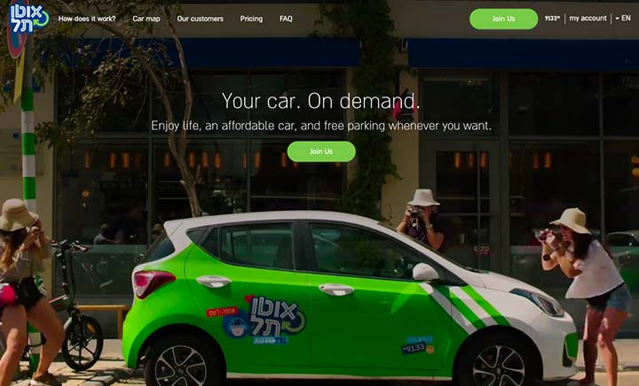 Autotel - Your car. On demand website