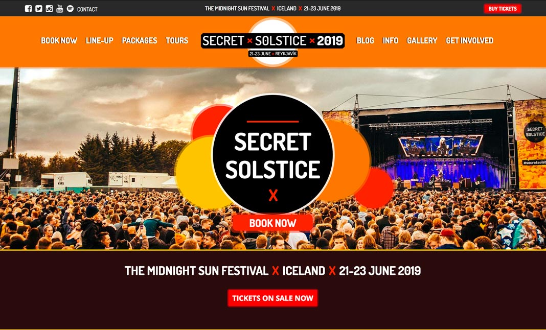Secret Solstice 2019 website