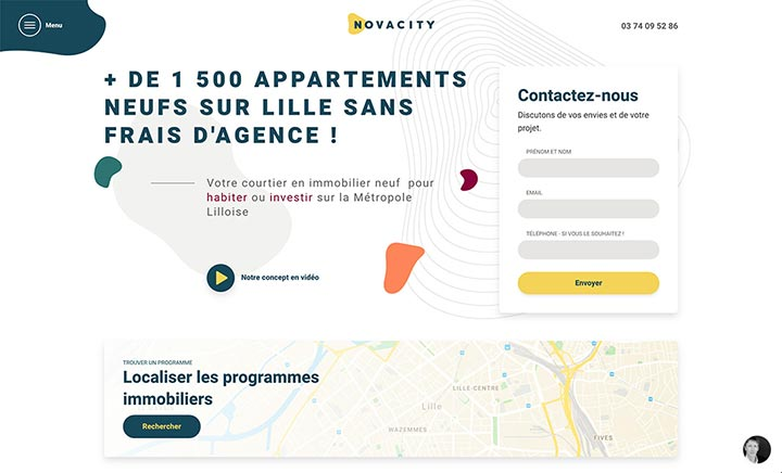 Novacity website