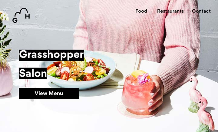Grasshopper Restaurants website