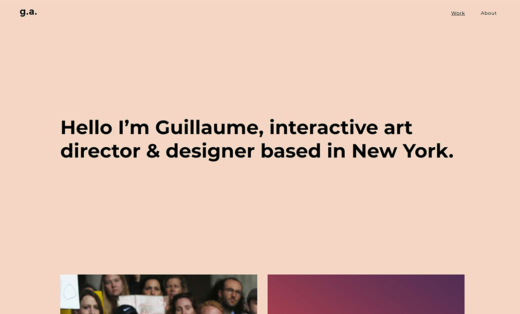 Guillaume Azadian Portfolio website