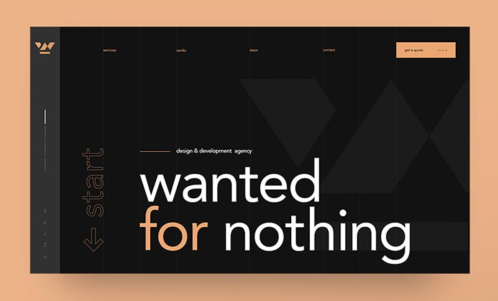 Wanted for Nothing website