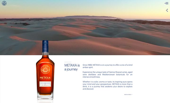 The House of Metaxa website
