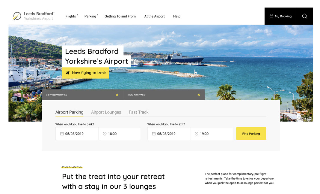 Leeds Bradford Airport website