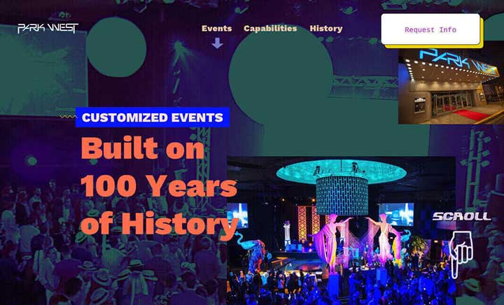 Park West Events website