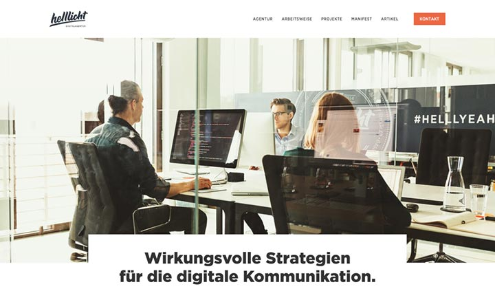 Digitalagentur helllicht website