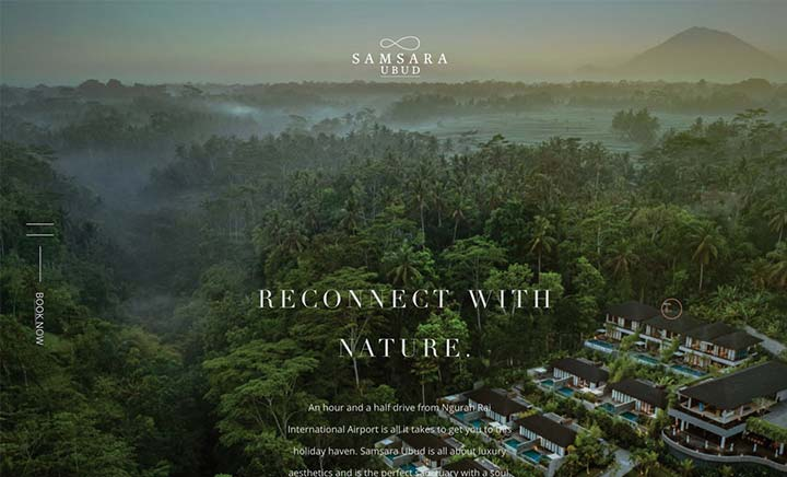 Samsara Resort website