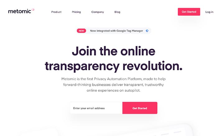Metomic — Privacy Automation website