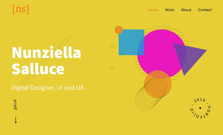 Nunziella Salluce Design website