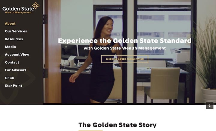 Golden State Wealth Management website