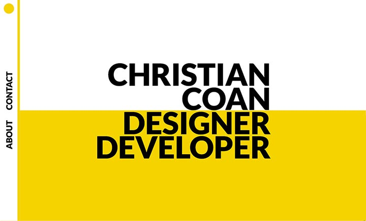 Christian Coan - Portfolio website