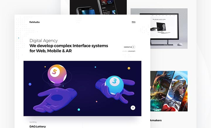 Flatstudio - Complex interfaces website