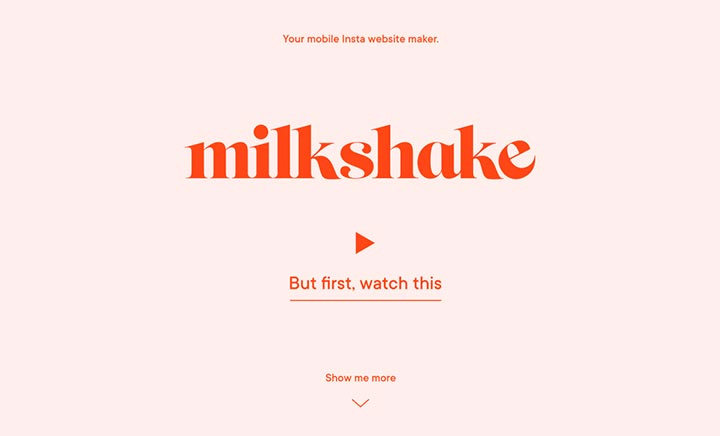 Milkshake website