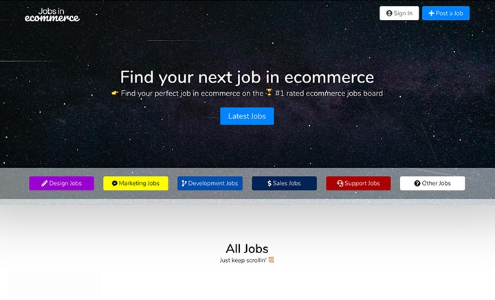 Jobs In Ecommerce website
