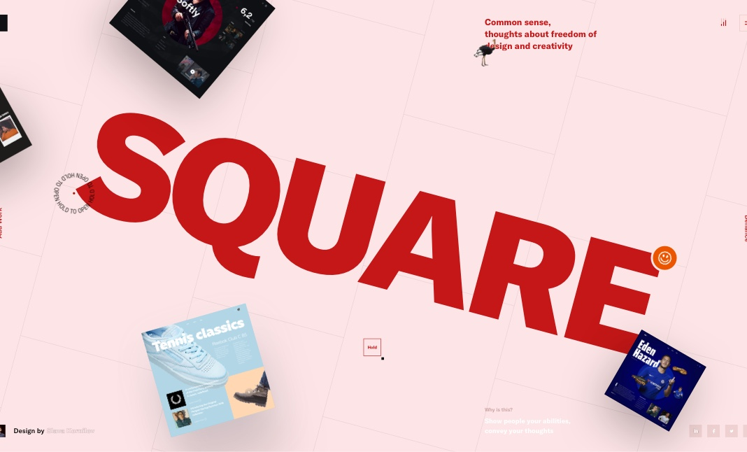 Square - Interface Game website