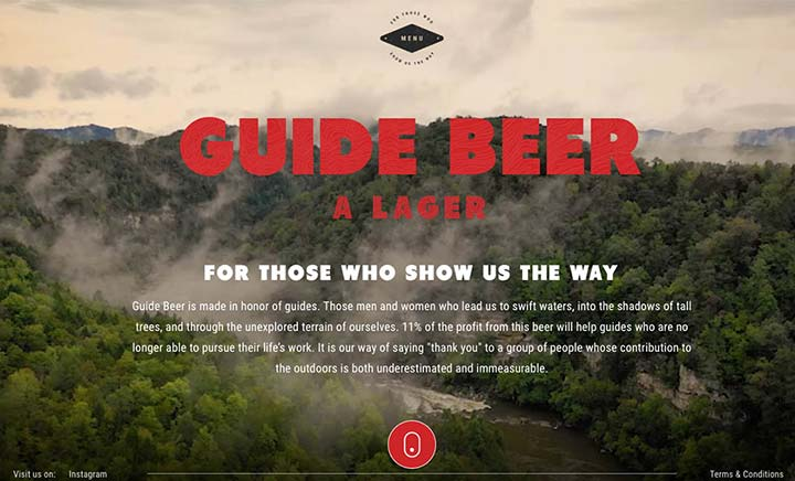 Guide Beer website