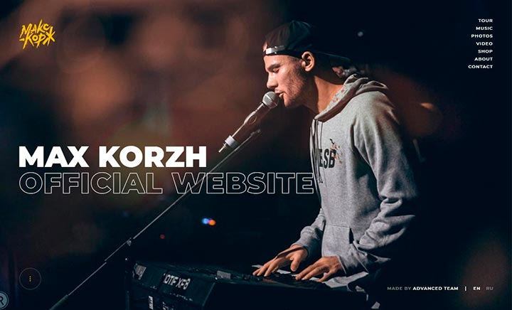 Max Korzh - Official website website