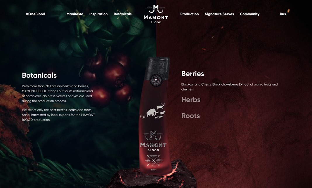 Mamont Blood website