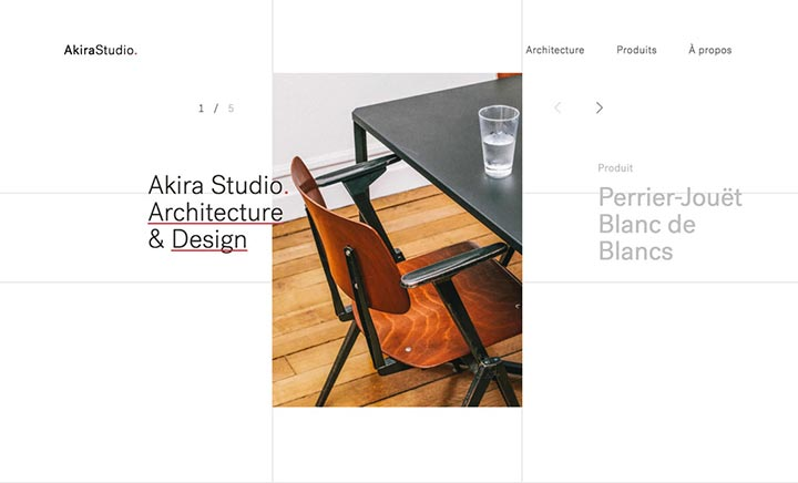 Akira Studio, Architecture & Design website