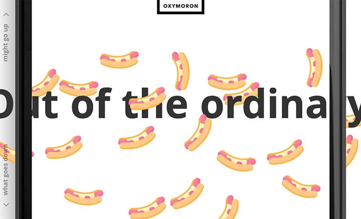 Oxymoron Agency website
