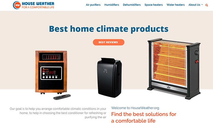 House Weather website