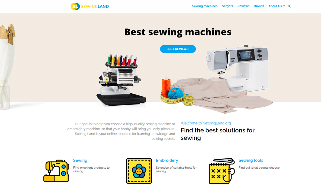 Sewing Land website