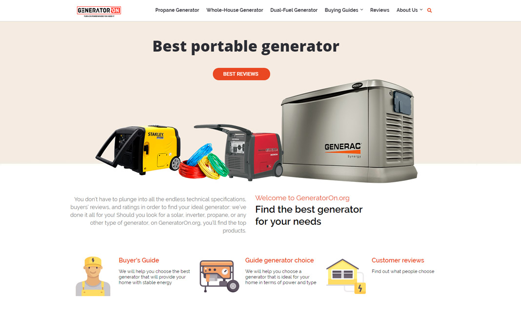 Generator ON website