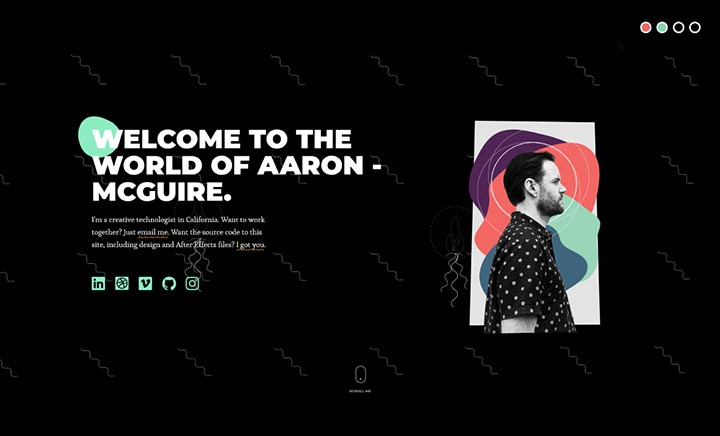 Portfolio of Aaron McGuire website