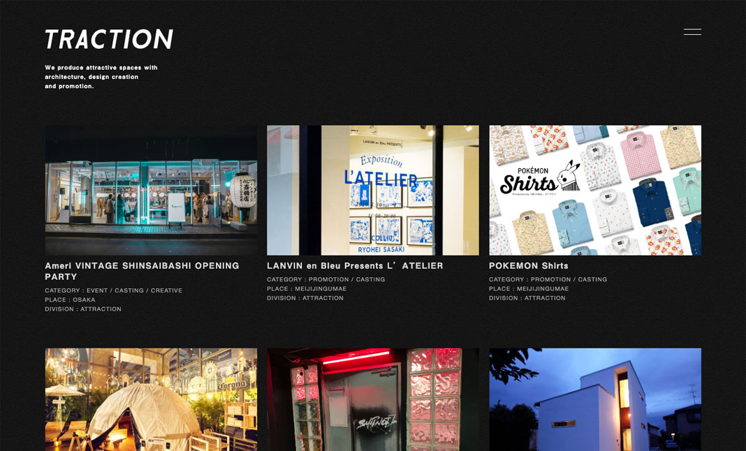 TRACTION Inc. website