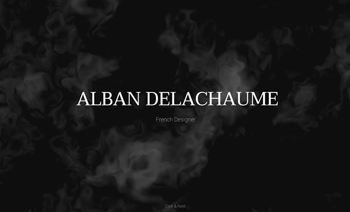 Alban Delachaume - Portfolio website