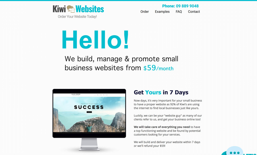 Small Business Web Design designed by KiwiWebsites