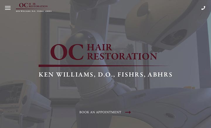 OC Hair Restoration website